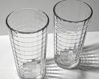 Pasabahce Block Optic Clear Juice Glasses Set of 2