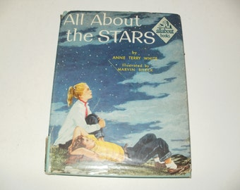 Vintage 1954 All about the Stars Book by Anne Terry White - Star Gazing, Astronomy, Collectible, Illustrated, Instructional, Constellations
