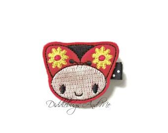 Ladybug Hair Clip,  Bug Hair Clip, Felt Hair Clip, Red And Black Ladybug Hair Clip, Toddler Clips, Felt Barrettes, Piggy Tail Hair Clips,