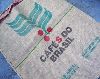 Burlap Coffee Sack 2 Sided  Cafe Do Brazil