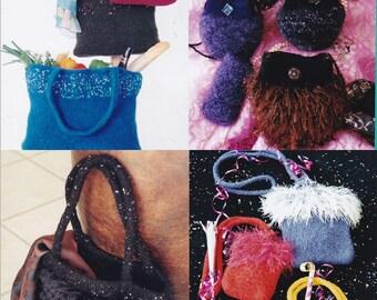 Fiber Trends Purse Knitting Patterns for Felting - 4 Variations