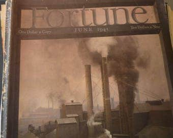 Fortune Magazine - June 1941 - great war time issue - excellent condition - whole issue - coal burning steel plants retro ads galore