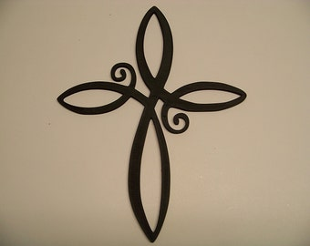 "PLASTIC Infinity Cross Wall Decor Plastic about 10-1/2"" tip to tip see photo"