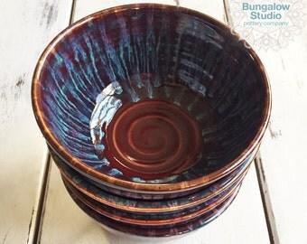 Ceramic Bowls, Soup Bowl Set of 4, Pottery Bowls, Ceramic Salad Bowls