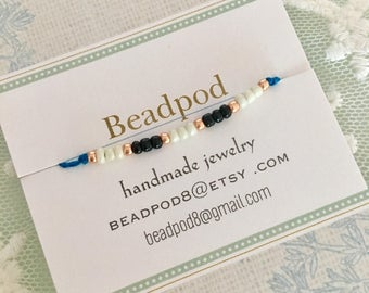 Friendship bracelet, wish bracelet, bridesmaid gift, hen party, party favor