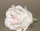 Deluxe Cream Pink Rose - Bridal Flower - Artificial Flower, Silk Flower Heads