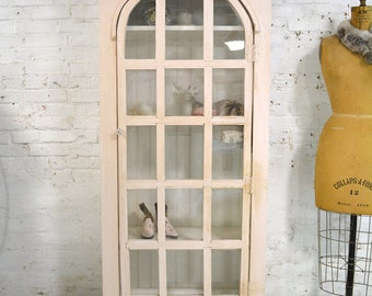 Painted Cottage Chic Shabby Pink Handmade Farmhouse Cabinet CC298A