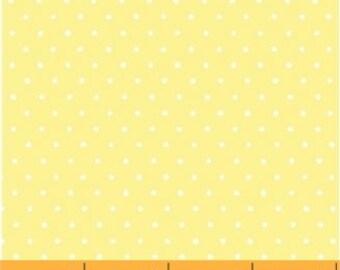 Windham - Basics/Pastels - Light Yellow w/ White Dots - Fabric by the Yard 29400-15