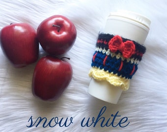 FREE SHIPPING Disney coffee cozy, teacher gift, coffee sleeve, Snow White cup cozy ,disney vacation,disney mug, disney gift,disney starbucks