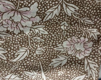 Kaffe Fassett Peony, taupe, OOP, vhtf, rare early Westminster floral, by the half yard
