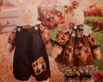 Bunny Rabbit Doll and Clothes Sewing Pattern UNCUT Butterick 5387 Baby Bunnekins