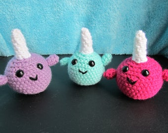 Crochet Baby Narwhals