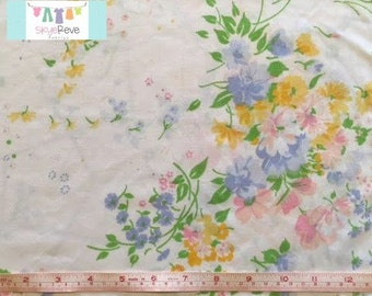 Queen Vintage Pastel Floral Fitted Sheet