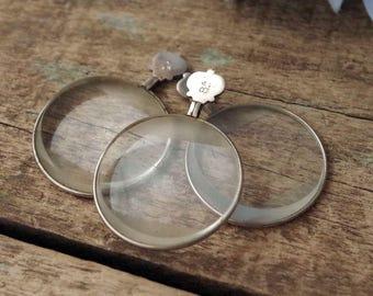 Antique Optical Test Lens Lot of 3 - Optician's Glass Lenses - 1910s-20s Optometrist's Optical Lenses Thick Glass