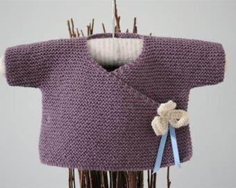 Kimono Baby Cardigan // Newborn Baby Cardigan // Kimono Cardigan // Baby Wrap Cardigan // Baby Wool Kimono // Take Home Outfit