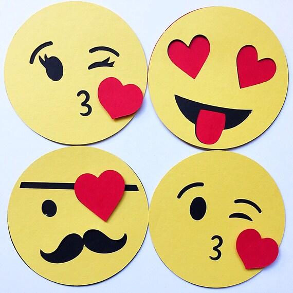 Emoji Valentine DIY Kit. Classroom Valentine for Kid. Kid Valentine. Valentines Day Card Set. Emoji Party Favor. Emoticon Valentine. Hashtag