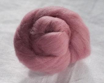 Merino Wool Top 100%, Needle Felting Wool, Wool Roving, Hand Spinning, Chelsea Pink, Merino Wool Felt, High Quality Soft Merino Wool, mw81