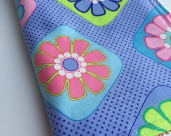 Baby Girl CHENILLE BURP CLOTH    -    Me & My Sister Designs Purple Floral Print