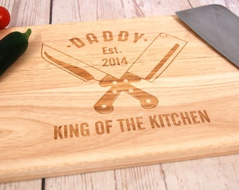 Personalised Father's Day chopping board for Dad ~ Personalised Cutting board ~ Fathers Day ~ Men's Bithday ~ Gift for Daddy