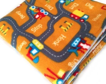 Road Map Toddler Fleece Blanket, Road Map Rug, Play Mat