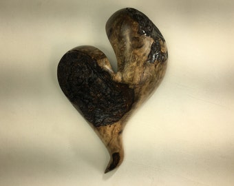 Myrtle wood heart wall hanging Love you more Anniversary present
