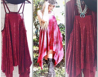 OS Spring festival Gypsy Tunic Dress, Bohemian Magnolia lace Pearl tunic, Boho dresses Stevie Nicks Style, Romantic True Rebel clothing OS