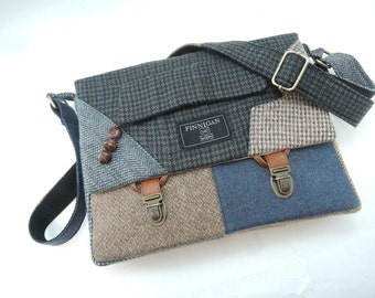 Messenger Bag mens, iPad Messsenger bag, iPad Sleeve, iPad Case, Womens messenger Bag, Eco Friendly Recycled Suit Coat