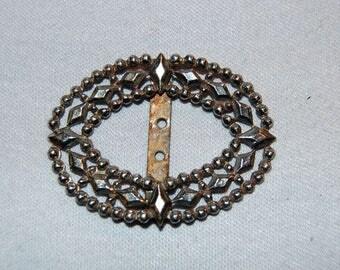 Vintage / Antique / Cut Steel / Belt / Buckle