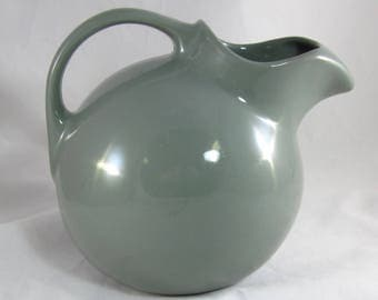Hall Gray Tilt Ball PITCHER Jug with Ice Lip - #633 - Grey - Made in USA