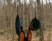 Geode Wind Chime on Driftwood.   #54