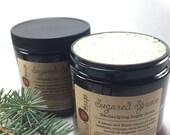 Sugared Spruce Emulsifying Sugar Scrub, Whipped Sugar Scrub, Body Polish