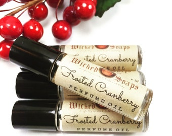 Frosted Cranberry Perfume Oil - Roll On Perfume Oil, Roller Perfume Oil