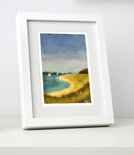 Rock - Small Framed Print - Cornish Coasts