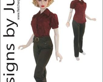 Summer Top & Pants Clothing Pattern for 1/3 Iplehouse EID BJD Dolls