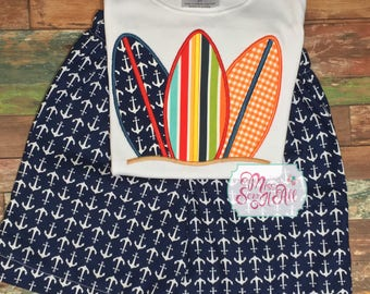 Surfboard Shirt, Surfboard Shorts Set, Custom Surfboard Set, Summer Shorts Set, Boys Surfboard Shirt