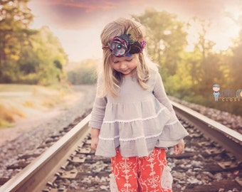 Hazel Top and Dress PDF Sewing Pattern including sizes 12 months - 12 years