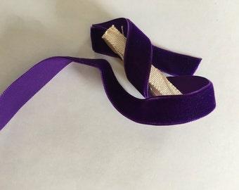 Vintage velvet rich royal purple ribbon