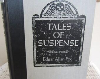 Vintage Book Tales Of Suspense by Edgar Allan Poe 1986 Readers Digest Publication Decorative Cover