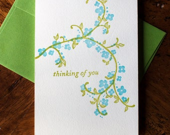 Flowery Thinking of You - Card