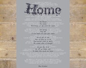 Blue October, Blue October Lyrics, Home Lyrics, Home, Blue October Home Lyrics, Wall Decor, Song Lyrics Prints, Custom Print, Wall Art