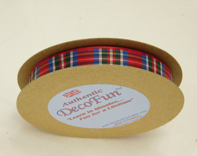 Royal Stewart Plaid Ribbon 5/8 inch Woven Edge genuine Scottish Tartan, 18 ft, Made in England, Christmas, favors, wedding, crafts, giftwrap