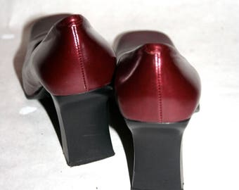 Super Cool Cherry Red Metallic 90's Pumps- Size 10 US