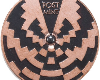 Copper Spinning Strobe Coin Top, Double Sided