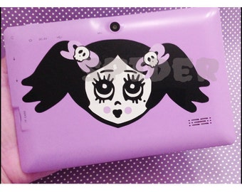 Vinyl Decal Scary Cupcake Layered Decal  Sticker Stickers Spooky Cutie Creepy Cute    Car Decal