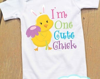 I'm One Cute Chick Baby Infant Bodysuit - Easter - Holiday