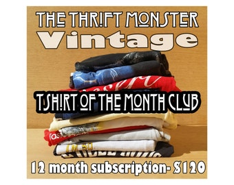 Vintage T-Shirt of the Month Club 12 Month Subscription - Vintage Tee