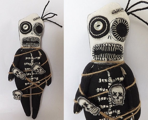 Voodoo Doll Macabre Art Doll