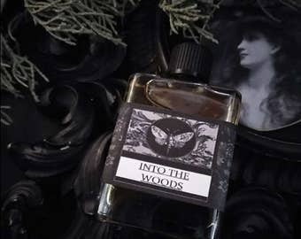 Into the Woods Gypsy Alchemy Natural Perfume Oil  1/2 oz  Creosote, Labdanum, Frankincense,Cypress, Cedarwood,Patchouli, Vanilla,
