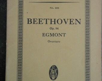 Beethoven Egmont Overture miniature score, Ernst Eulenburg, Ltd