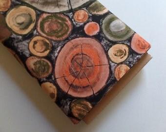 Frond Design Studios Fabric Genesis Tree Rings Woodcut Crosscut Wood Natural 135-0401